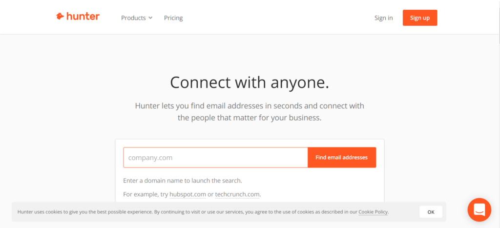 Tigura, narzędzia - search adresów email